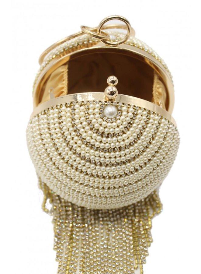 Ďalší obrázok produktu Spoločenská kabelka s perlami a kamienkami Tom Eva 7c8d7117f8f
