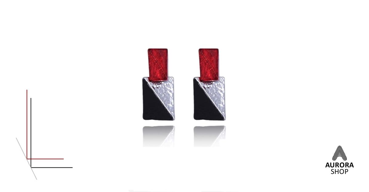 031c664e1 Náušnice červená, čierna - AuroraShop